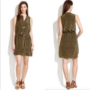 Madewell Animal Print Playa Silk Dress
